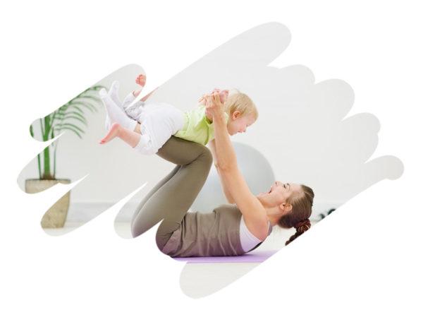 """Võimlemistund """"Beebi ja ema lihaste treening"""""""